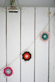 wood & wool x-mas garland