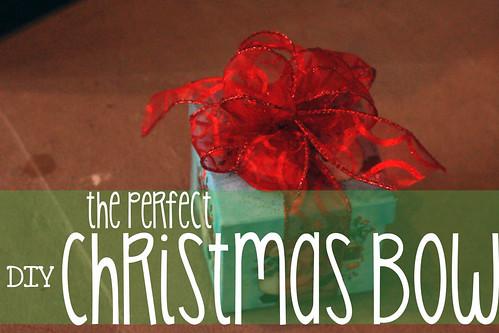 perfect christmas bow