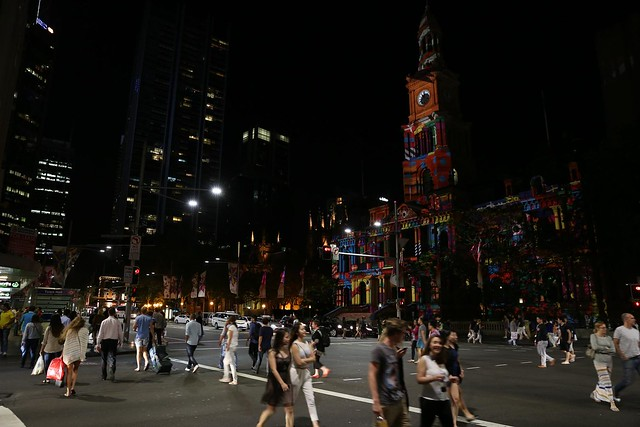 Sydney Town Hall Christmas lighting