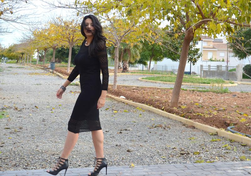 looks con vestido de lana