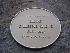 Photo of Lilias Gillespie Skene yellow plaque