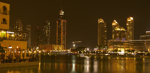 Dubai Skyline reflections