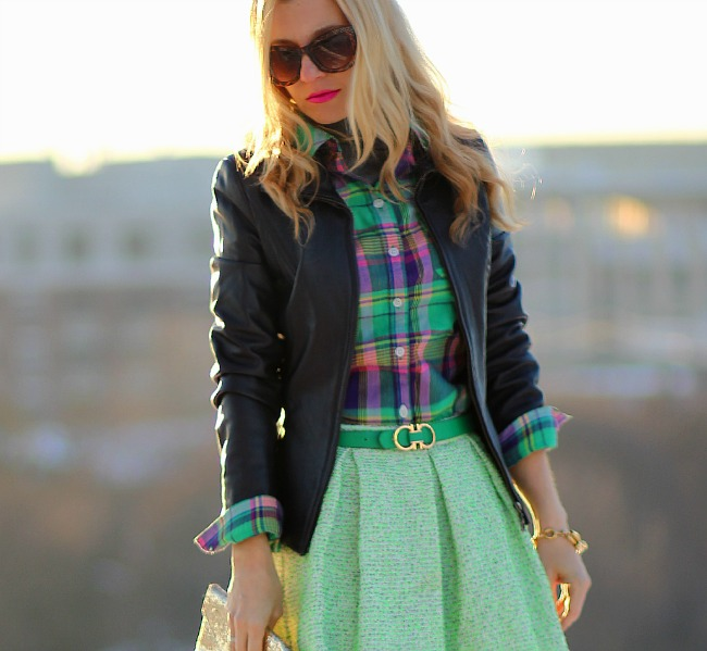 plaid-shirt-danier-jacket-amadeus-on-the-catwalk