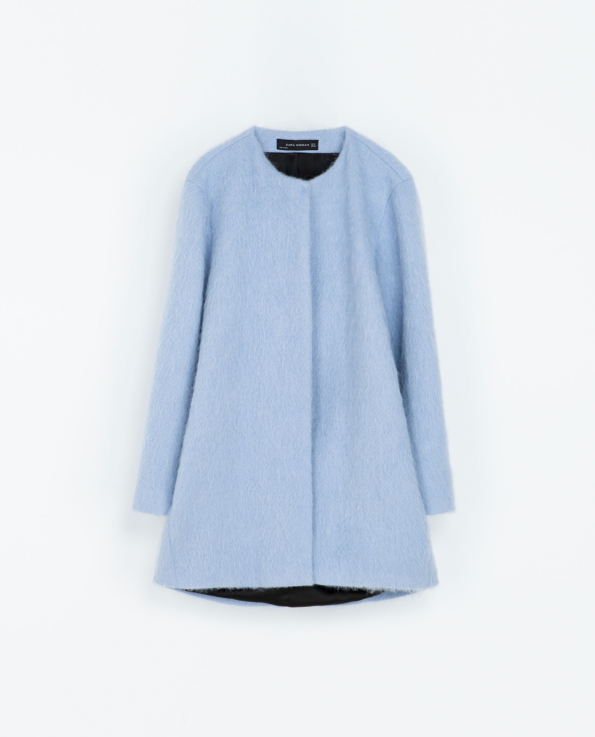 Daisybutter - UK Style and Fashion Blog: Zara blue mohair coat