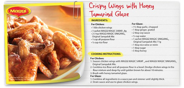 Maggi Recipe Crispy Wings with Honey Tamarind Glaze