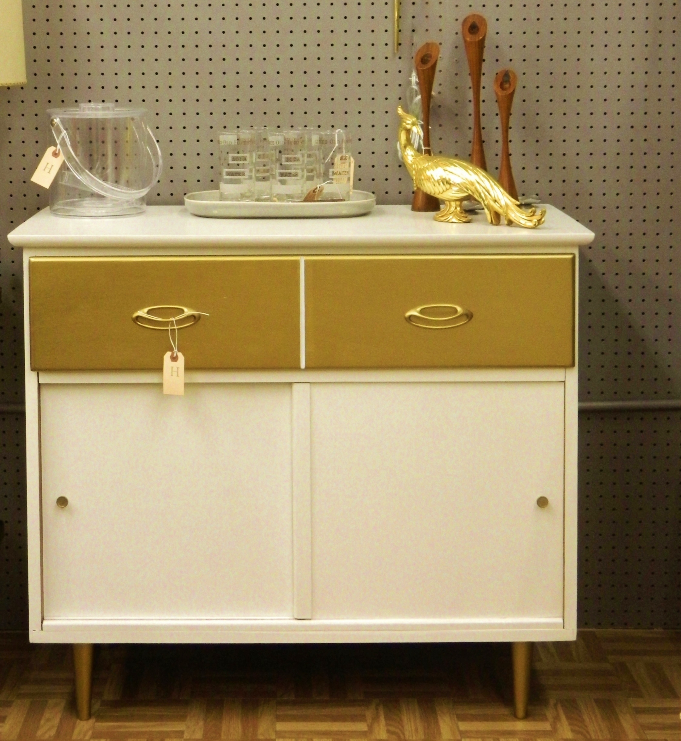 hollywood glam storage cabinet