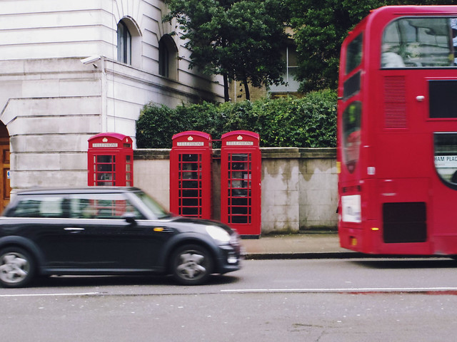 London Phone Boxes and Bus