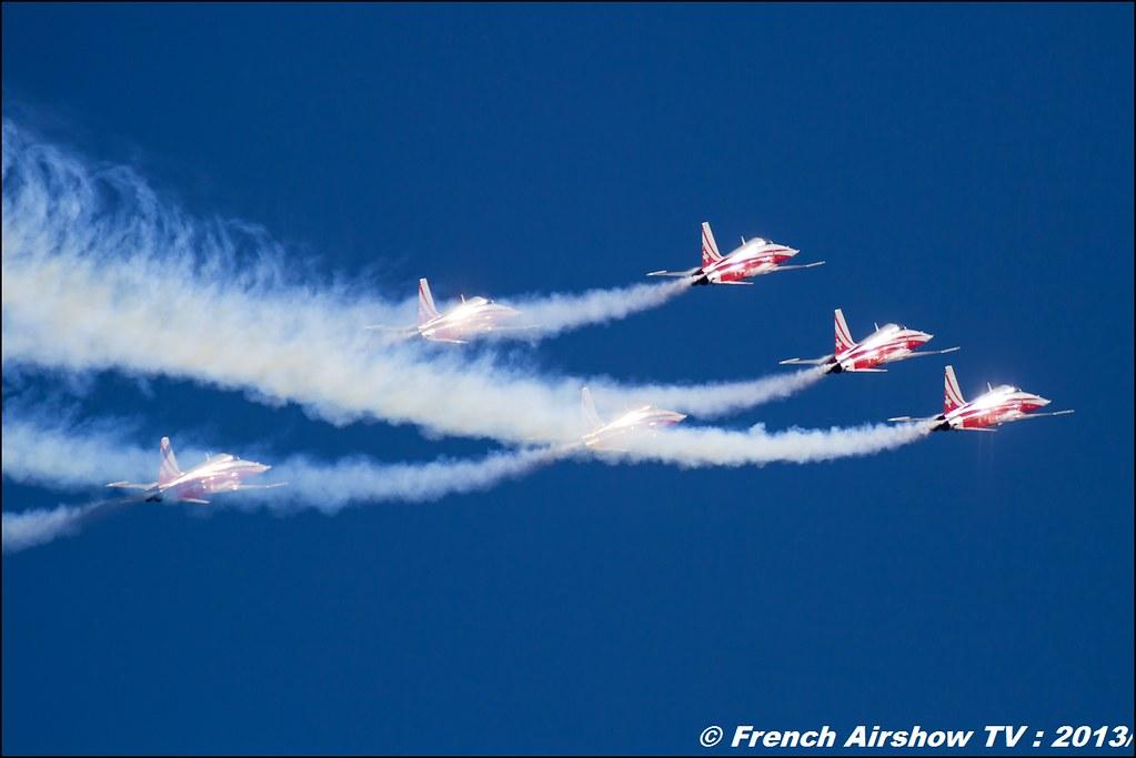 Patrouille Suisse ,60 ans Patrouille de France , Meeting Aerien 2013