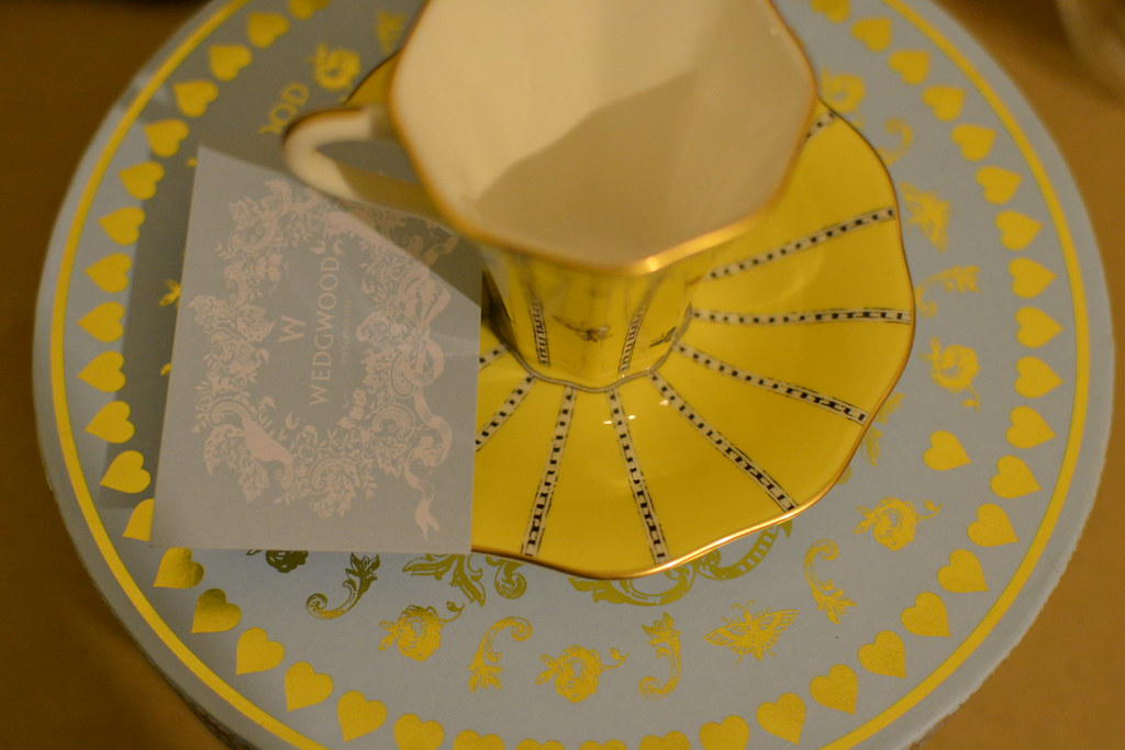 Wedgwood Harlequin Collection Yellow Butterfly Teacup and Saucer from the Schades