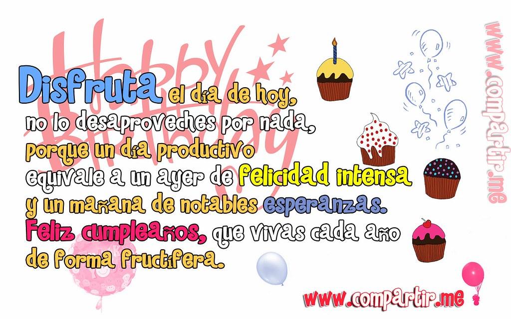 Tarjeta De Feliz Cumpleaños Con Frase Formal Para Dedicar Flickr