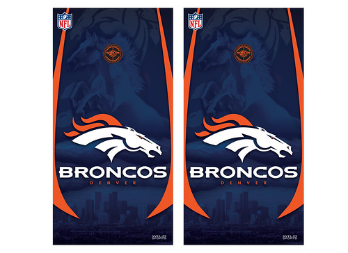Denver Broncos Cornhole Game Decal Set