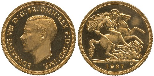 A King Edward VIII 1937 Gold Proof Sovereign