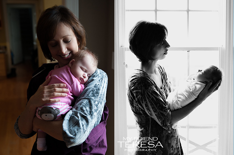 My Friend Teresa Photography, Cary Newborn Photography, Doula with Baby