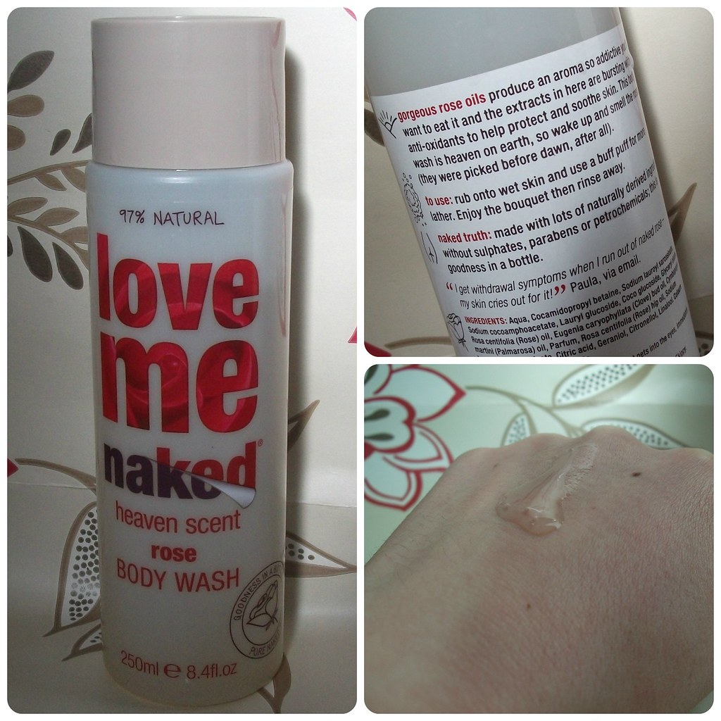 Naked Love Me Heaven Scent Rose Body Wash