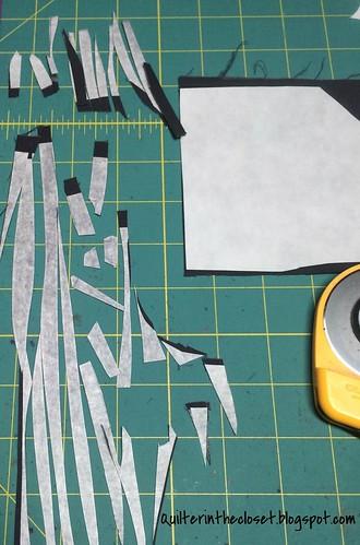 cut gray scraps