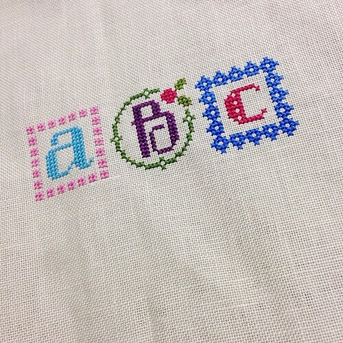 Learnt my ABC today  #lizziekate #springalphabet #crossstitch #onestitchatatime #sashathestitcher