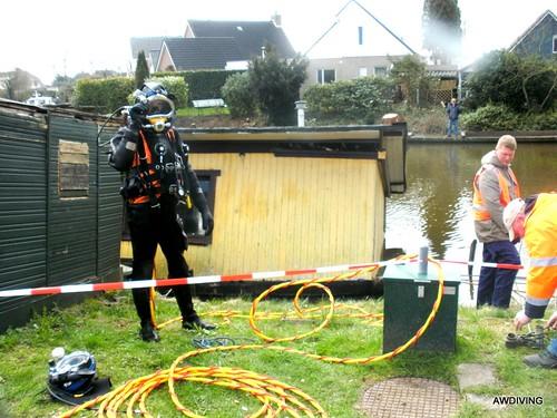 Woonboot reparatie