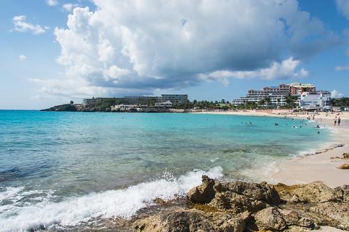 beach water sand nikon rocks waves caribbean stmaarten sxm sintmaarten caribbeansea mahobeach dutchwestindies d7100 kingdomofthenetherlands bensenior nikond7100