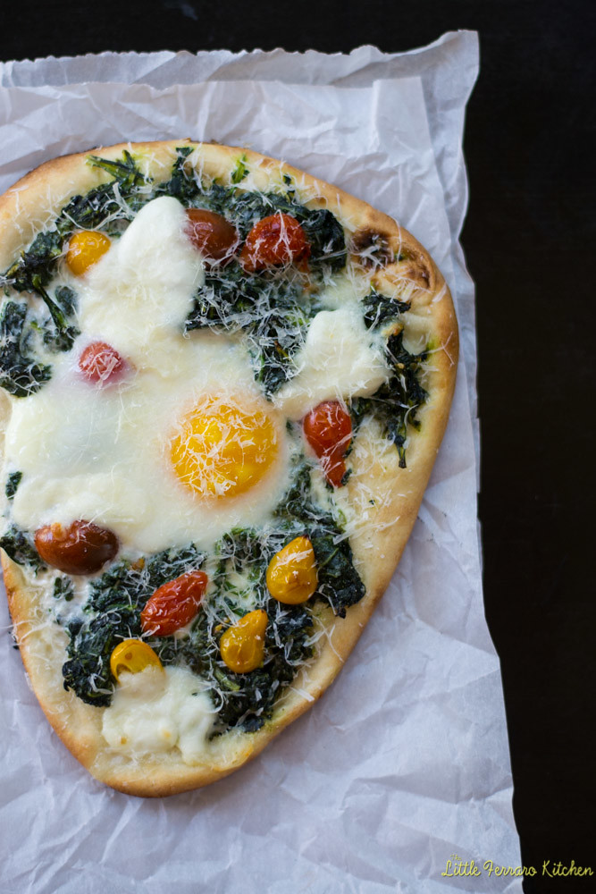 Kale and Egg Breakfast Pizza via LittleFerraroKitchen.com