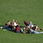 Gathering on Avenham Park