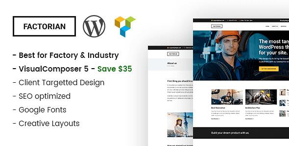 Factorian WordPress Theme free download