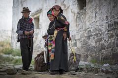 Tibetan people in the Sera Monastery