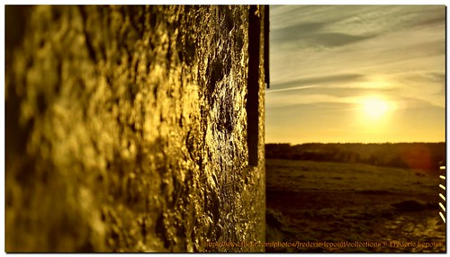 coucher de soleil sur Montbliart