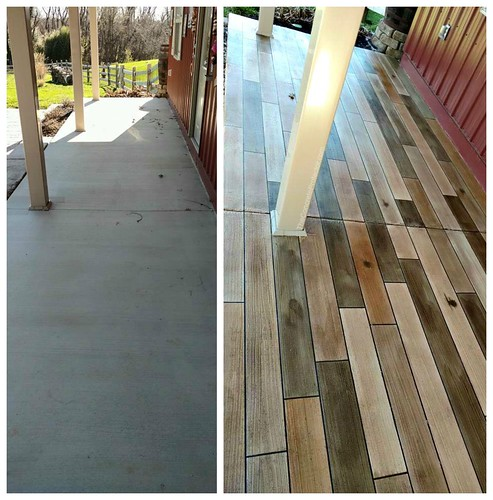 Concrete Wood Porch - Before & After - Atlanta, GA