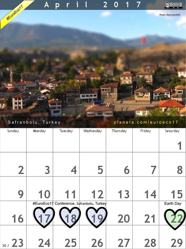 #EuroEco17 Calendar