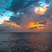 CLOUDY SUNSET IN POLYNESIA