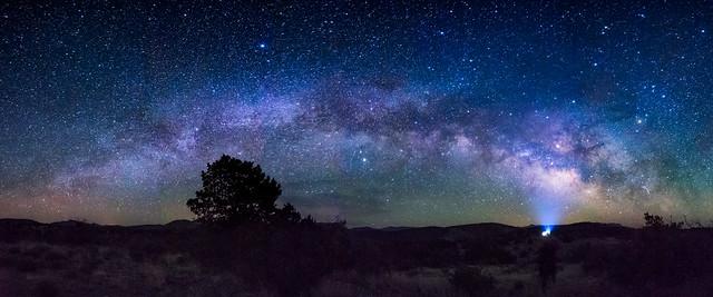 The Milky way sets over the Dark Sky Sanctuary