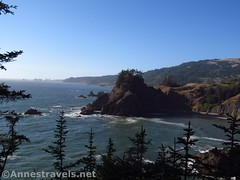 Views north from Arch Rock