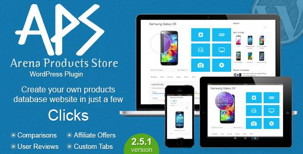 Arena Products Store v2.5.1 - WordPress Plugin
