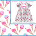 Watercolor ice cream fabric from my Spoonflower shop by MagentaRoseUK