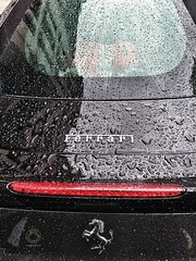 Rained on Ferrari, London.