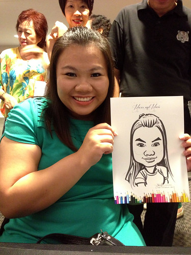 caricatrue live sketching for wedding dinner