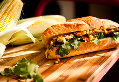 Crispy Corn Fritter Banh Mi - The Banh Mi Boys