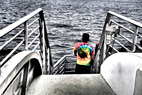 boston harbor cruise tie dye t shirt