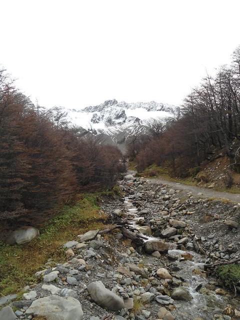 camino al glaciar martial