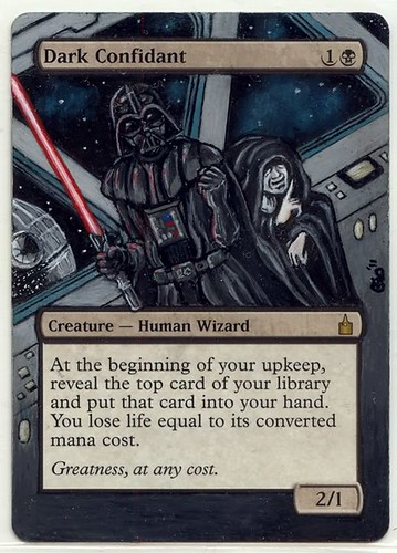 Dark Confidant altered art mtg magic altered card art sith star wars darth vader altered magic the gathering
