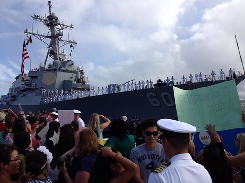 USS Paul Hamilton (DDG 60) returned to its homeport of Joint Base Pearl Harbor-Hickam