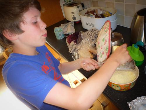 Harvey cooks