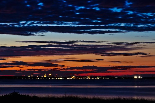 sunset usa island day cloudy providence rhodeisland rhode warwick conimicutbeach conimicutpointpark