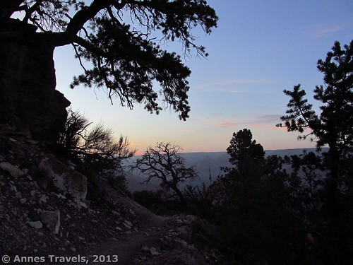 After sunset on the Grandview Trail, Grand Canyon National Park, Arizona