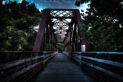 Walking Bridge, former rail line on Old Collins Company property, Collinsville CT (color)