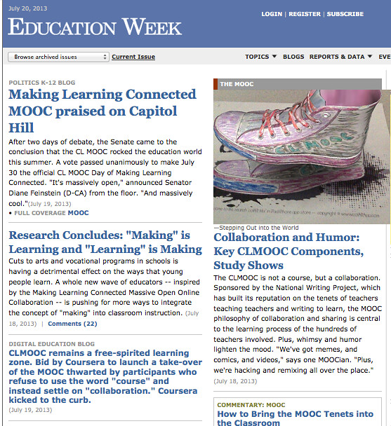 Education Week Hacked for CLMOOC