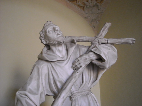 """Saint Francis of Assisi"" - statue years 1785-88 by Giuseppe Sanmartino - Naples, San Martino Museum"
