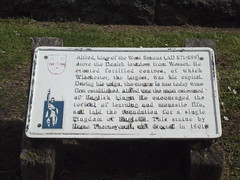 Photo of Alfred the Great white plaque