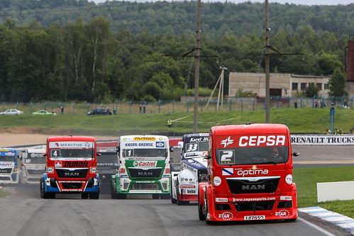 Antonio Albacete Campeonato Europeo de camiones Smolenskring  julio 2013