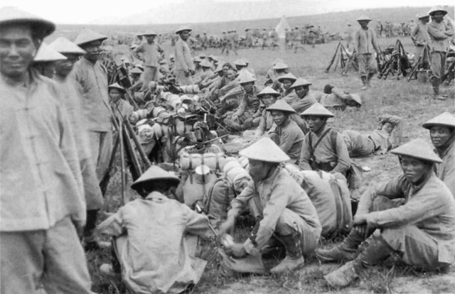 French colonial marines from Annam in Indochina near Ypres in 1916.